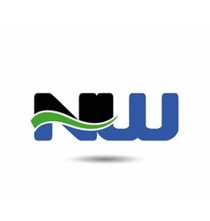 NW company linked letter logo icon vector