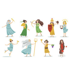 Olympian gods and goddesses vector