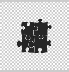 Piece of puzzle icon on transparent background vector