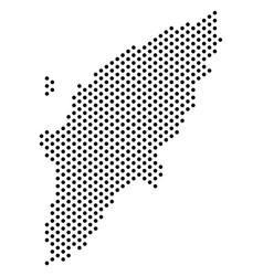 Pixel greek rhodes island map vector