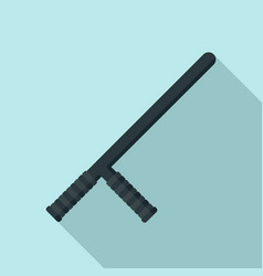 police baton icon flat style vector image