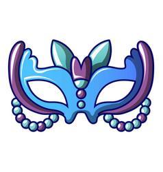 Queen carnival mask icon cartoon style vector