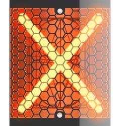 Radio tube x vector