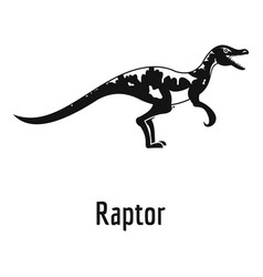 Raptor icon simple style vector
