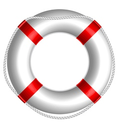 rescue buoy vector image
