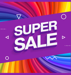 sale banner template design end of season special vector image