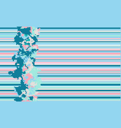 seamless horizontal lines pattern blue vector image