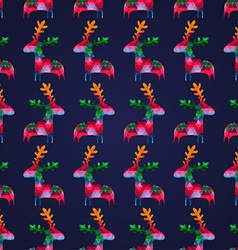 seamless pattern with colorful deers vector image