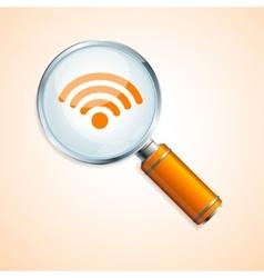 search wifi concept vector image