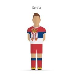 Serbia football player Soccer uniform vector