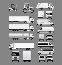 Set of Transportation Vehicles 2 vector image