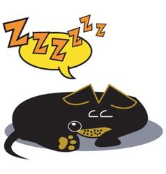 Sleeping dog vector