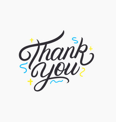 thank you hand written lettering vector image