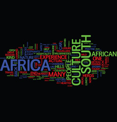 the cast of culture in south africa text vector image