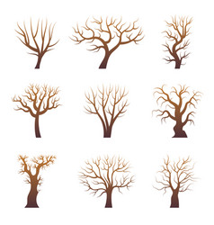 tree branch silhouettes abstract forest trees vector image