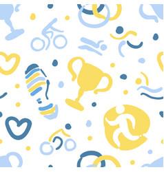 triathlon seamless pattern sports club endless vector image