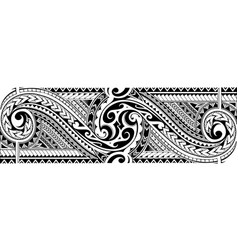 Tribal tattoo sleeve vector