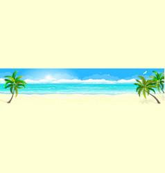 tropical sandy beach and ocean 1 vector image