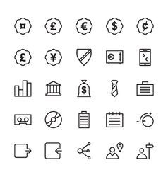 Web and User Interface Outline Icons 9 vector image