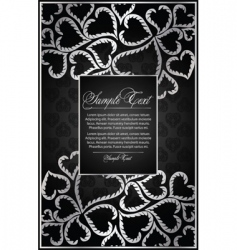 wedding heart frame vector image vector image