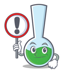 With sign tube laboratory character cartoon vector