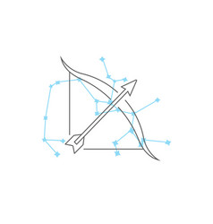 zodiac signs sagittarius line icon simple vector image
