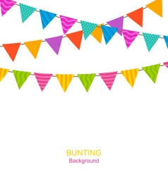 Colorful Buntings Flags Garlands vector image vector image