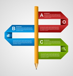 Education pencil option Infographics design vector image