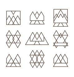Set of geometric shapes triangles squares and vector image