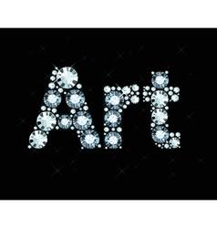 Diamond Word Art vector image