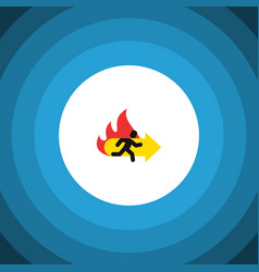 isolated emergency flat icon fire exit vector image vector image
