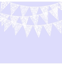 lace bunting vector image
