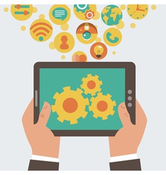 mobile app development concept vector image