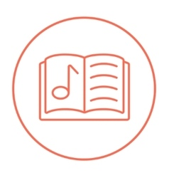 Music book line icon vector image vector image