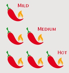 Red hot chilli peppers vector image vector image