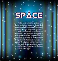 Space background with lightened corridor vector image