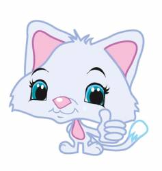 thumbs up kitty vector image vector image