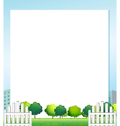 An empty paper with trees at the bottom vector image vector image
