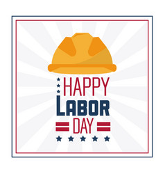 colorful poster of happy labor day in frame with vector image vector image