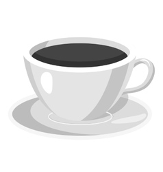 Cup of coffee icon gray monochrome style vector image vector image