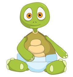 Funny turtle baby vector
