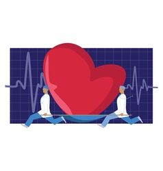 Heart donor vector image vector image