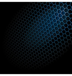 hexagon grid vector image