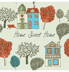 Home sweet home Card Seamless background vector image