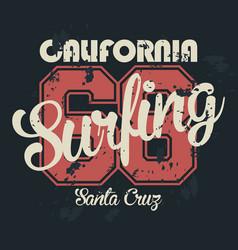 los angeles california t-shirt graphics vintage vector image vector image