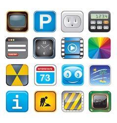 apps icon set three vector image vector image