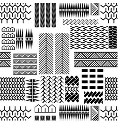 black and white mayan embroidery seamless vector image vector image