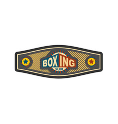 boxing championship belt award for boxer sport vector image vector image