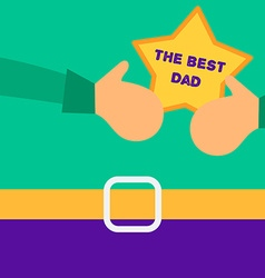 Happy Fathers Day concept with happy father and vector image