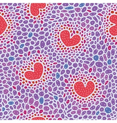 Hearts cell structure vector image